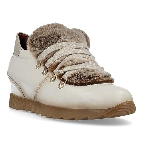 Zapato HISPANITAS Mujer Piel Beige Cuña HI87866