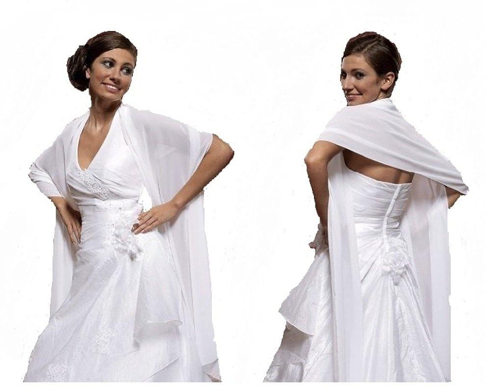 elegante Braut Stola Braut Schal aus Chiffon Hochzeit Brautkleid ...