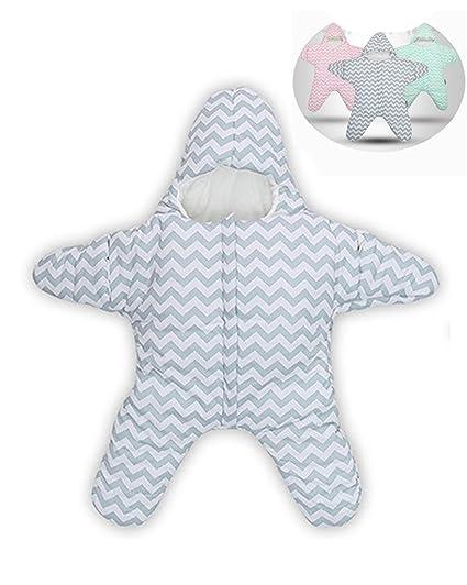 Himom 100% Algodón Recién Nacido Saco de Dormir Estrella de Mar Saco Bebé Swaddle Cochecito