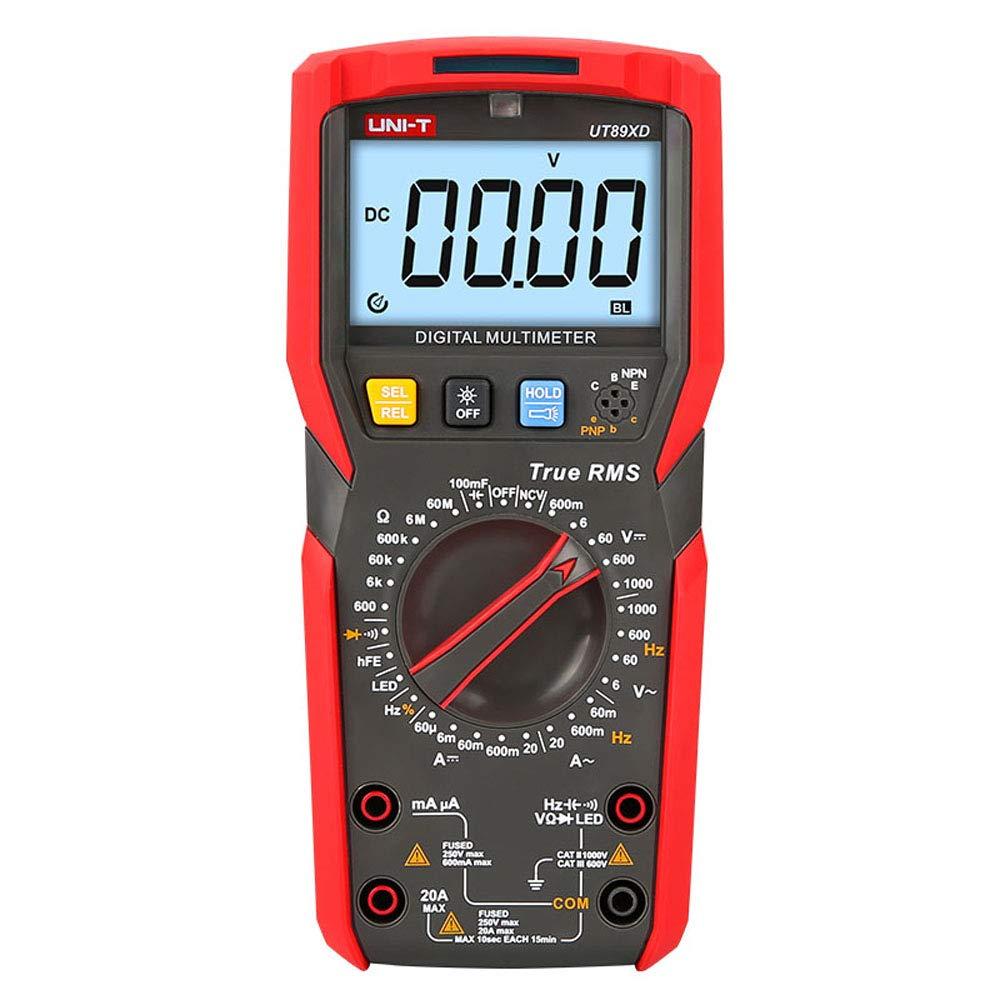 UNI-T UT89XD True RMS digital multimeter LED test ac dc Voltmeter Ammeter Capacitance Frequency Resistance test