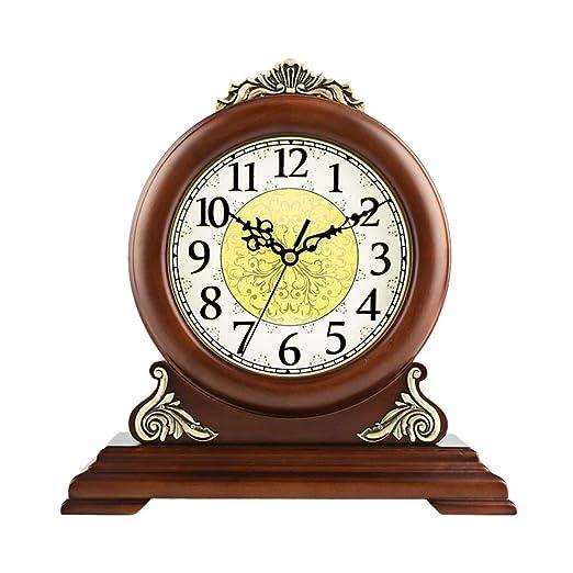 Relojes de repisa de madera, reloj de mesa de escritorio antiguo ...