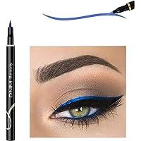 Lápis de maquiagem de olho de gato à prova d 'água neon colorido líquido lápis maquiagem comestics longa duração preto…