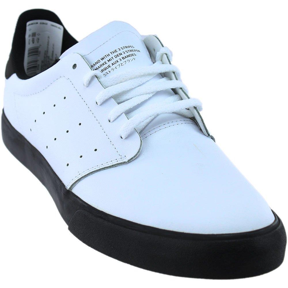 c0b8241dc45fe2 Galleon - Adidas Skateboarding Men s Seeley Court Footwear White Footwear  White Core Black Leather 11 D US