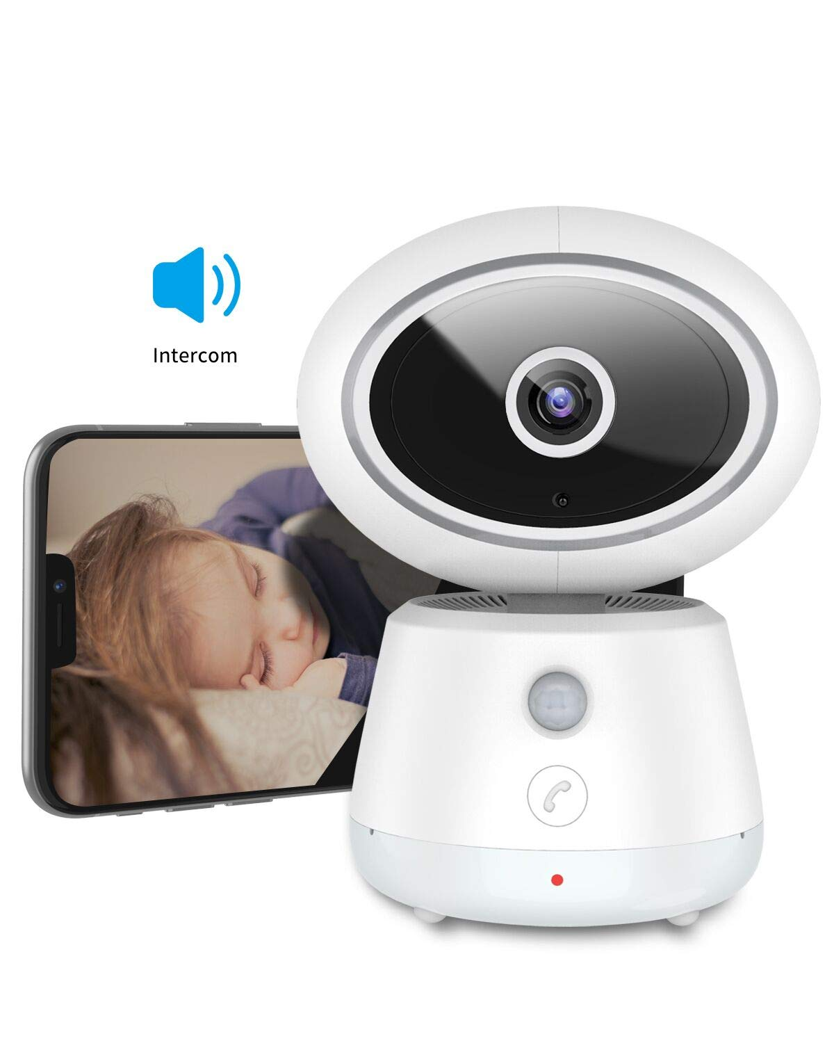 Baby Monitor Brilex Wireless 1080P Security Camera 2.4G WiFi Surveillance Camera with 3D Panoramic Navigation Night Vision Cloud Service 2-Way Audio for Baby Elder Pet