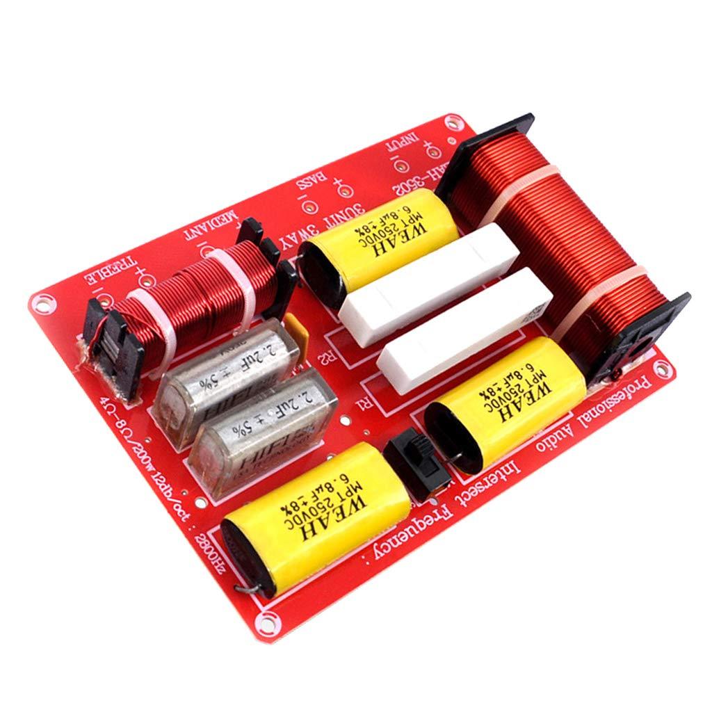 IPOTCH 250W Lautsprecher Audio Frequenzteiler frequenzweiche 3 Wege-Modul einfach instaliert