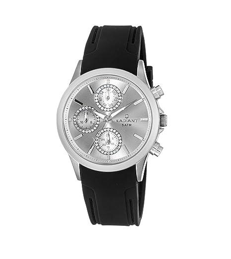 Radiant Reloj Cronógrafo para Mujer de Cuarzo con Correa en Caucho RA294605: Amazon.es: Relojes