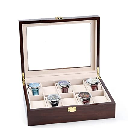 Merveilleux Decorative Jewelry Boxes,Woody Watch Storage Box Sorting Bracelet  Collection Box Jewelry Display Box