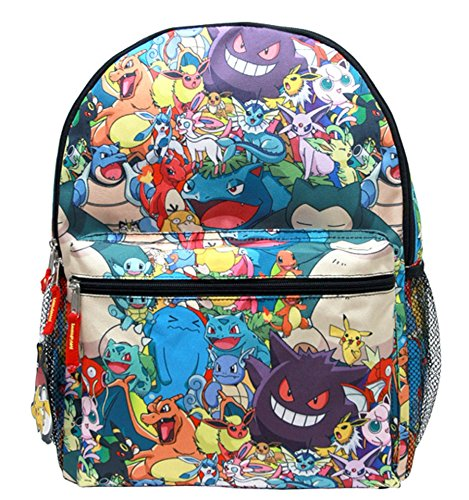 Granny's Best Deals (C) Pokemon with Multi Pokemon Characters Allover 16'' Backpack-Brand New! by Accessory Innovations