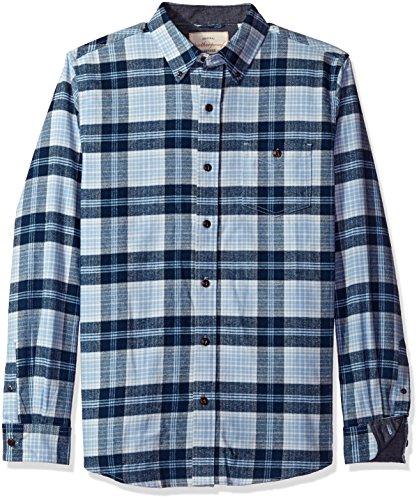 Weatherproof Vintage Men's Long Sleeve Flannel Shirt, Powder Blue, Medium Powder Blue Flannel