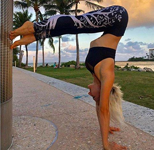 Tight Comfortable Workout Femmes Athletic D'arbre Noir Pantalon Fitness Yoga Exercice Pants Séchage Adeshop Skinny Rapide Jogging Impression De Sport Gym Grande awOwE