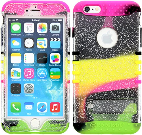 Wireless Fones TM Bumper Case for 6 Plus (5.5 inches) Clear Glitter Snap On Over 2 Tone 2 Skin from Case Kool