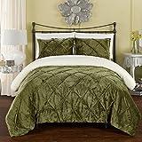 Chic Home CS5105-AN Josepha Bedding Set, Twin/X-Long, Green