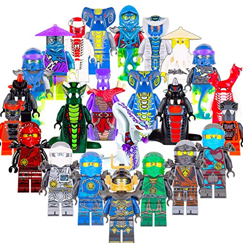 (GOOTY Ninjago Building Blocks Toys Minifigures with Accessories for Kids Set 24Pcs)