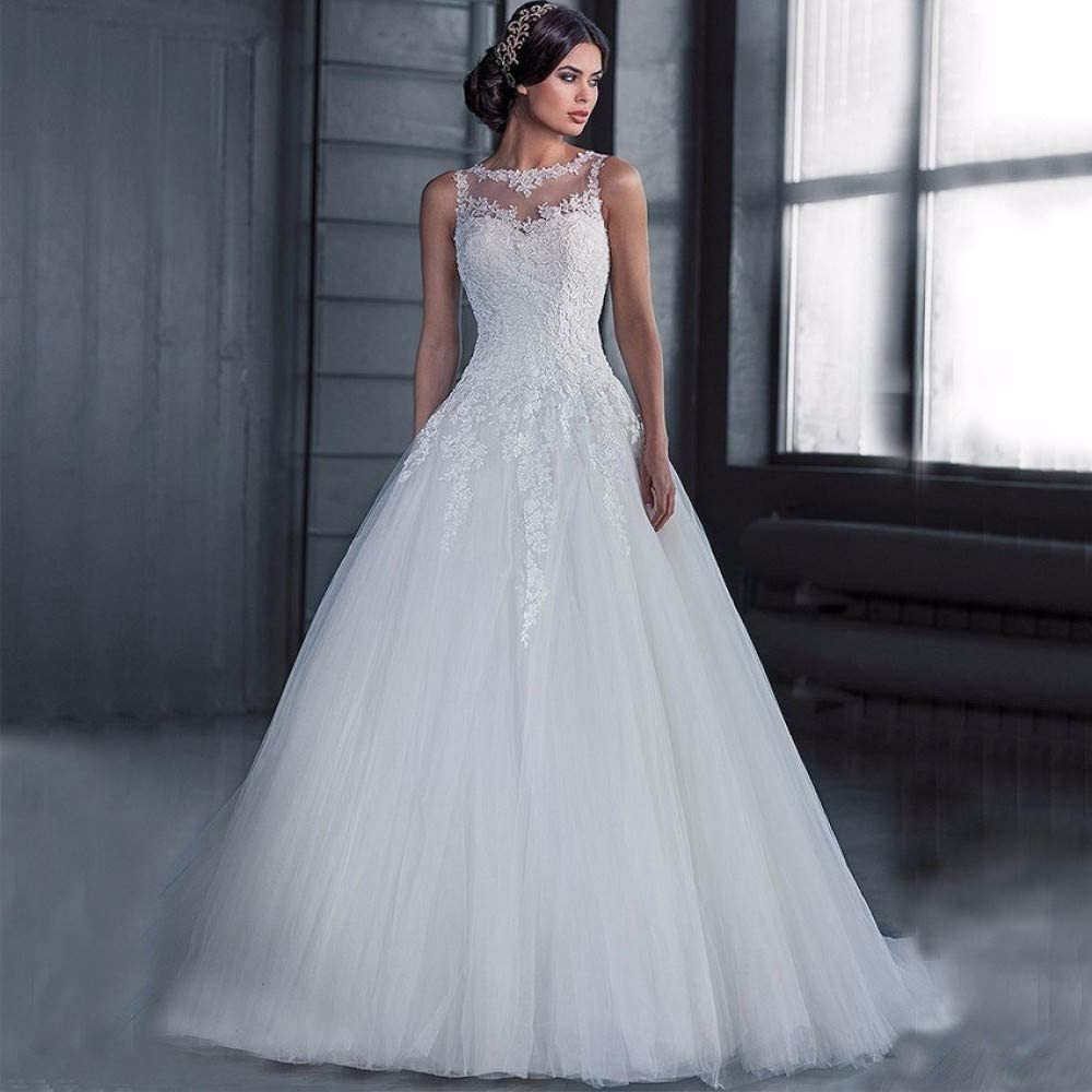Vestido Vestido de Novia Vestido Fish Tail Falda Cola Prom/Blanco ...