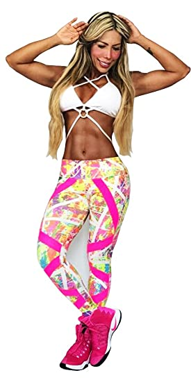 LEGGINGS Colombiano - Talla unica - Ropa Deportiva Mujer Gym Workout  Spinning suplex pantalones 0c98ae42008a
