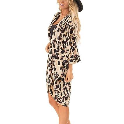 29e5106d9a6a ❤ URIBAKY- Moda Mujer Leopardo de la Capa Cubre Traje de Baño ...