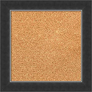 Framed Natural Cork Board Bulletin Board | Natural Cork Boards Manteaux Black Frame | Framed Bulletin Boards | 48.38 x 24.38″
