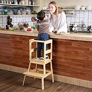 Amazon Com Kids Kitchen Helper Kitchen Step Stool With