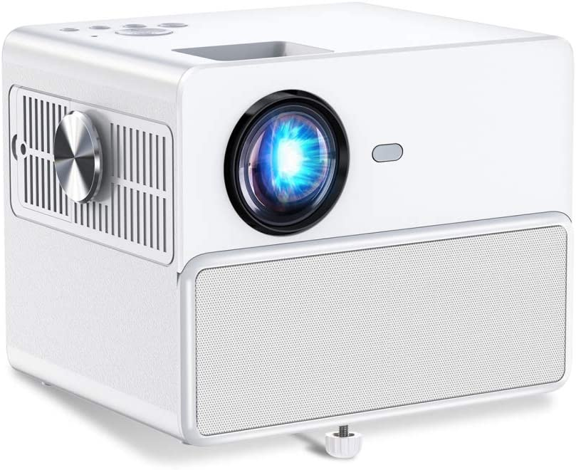 Towond Smart Mini WiFi Home Theater Projector, 1080P Supported, HDMI 6500LUX LCD Portable Outdoor Movie Projector with Dual 5W Built-in Bluetooth Speakers, Compatible with PS4, HDMI, VGA, USB,Laptop