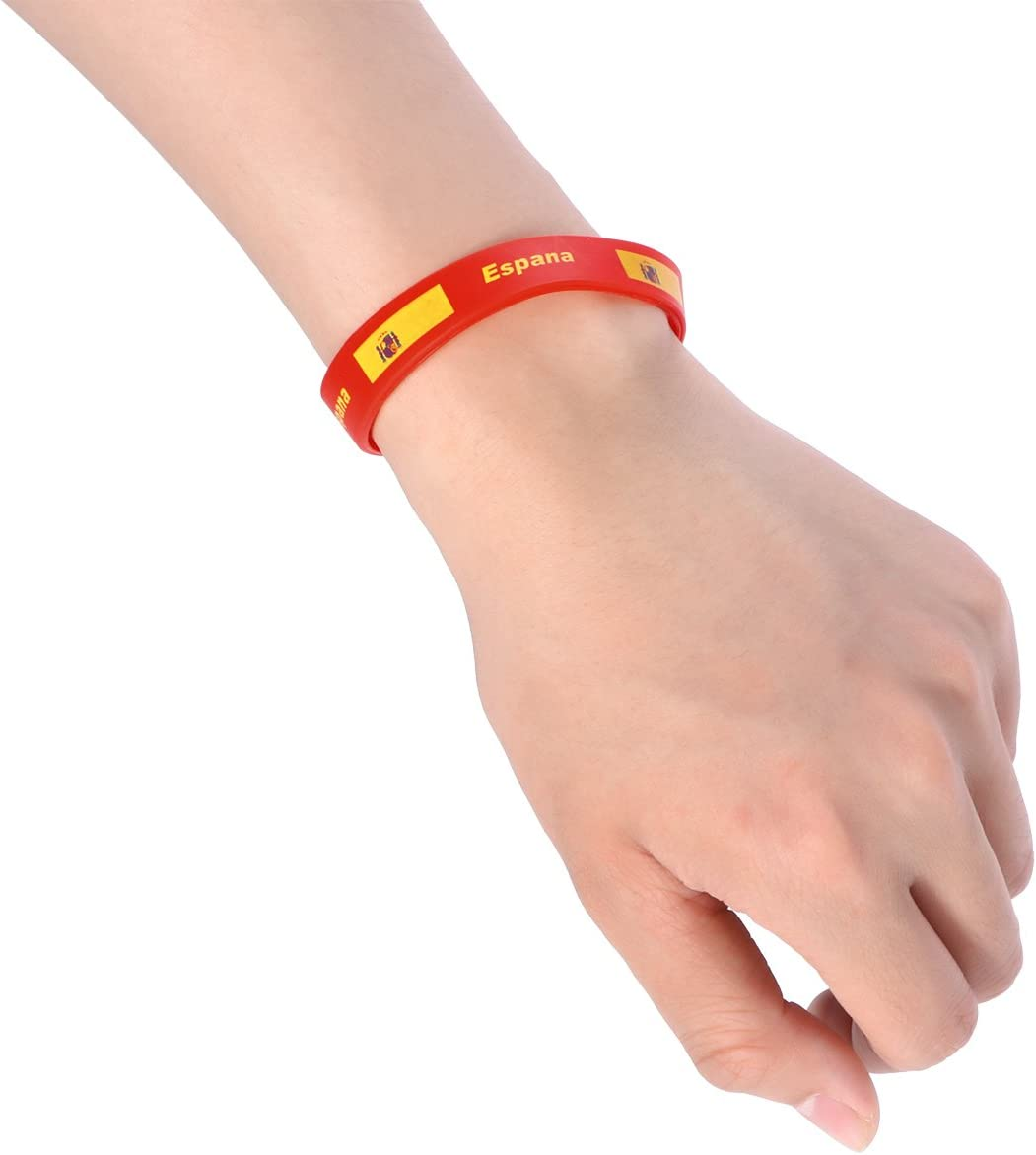 LUOEM Pulsera de silicona inspirada Pulsera de goma Moda Deportes Pulsera, Unisex Moda de adulto adolescente Suprema para Copa Mundial 2018 Paquete de 6 (España): Amazon.es: Juguetes y juegos