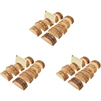 MagiDeal 30Pcs Rustic Wood Place Card Holder Party Wedding Table Name Card Holder