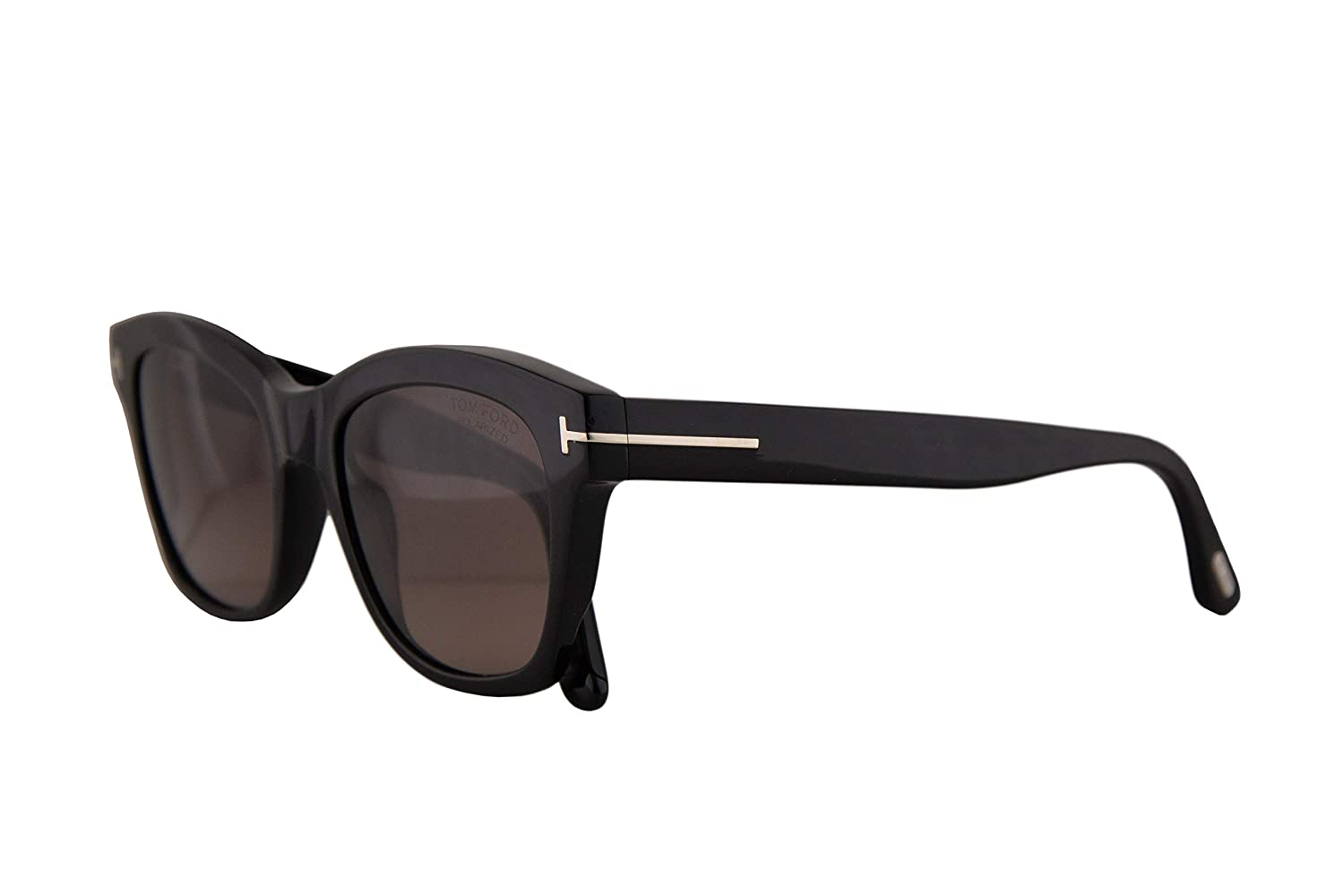436a742d07afd Amazon.com  Tom Ford FT0614 Lauren-02 Sunglasses Shiny Black w Polarized  Brown 52mm Lens 01H FT614 TF 614 TF614  Clothing