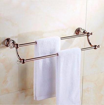 Sursy Todo el cobre de cristal toallero bipolares, Golden Jade, rack de toallas de