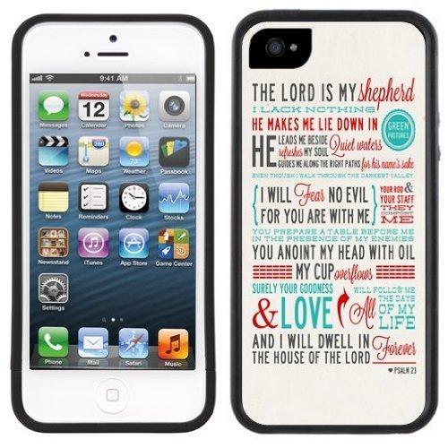 Psaume 23 | Chrétien | Fait à la main | iPhone 5c | Etui/Housse noir