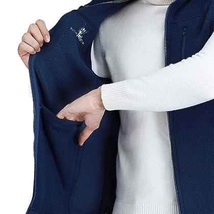 2285aa27ae366 ... CAMEL CROWN Fleece Vest Men Women Full-Zip Sleeveless Jacket Plus Size  with Pocket Lightweight ...