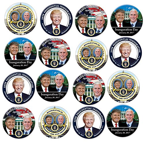 Donald Trump 2017 Inauguration Buttons Set Of 25