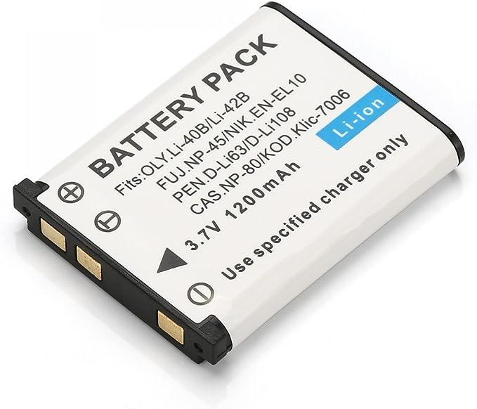 Rusty Bob - NP-45 / LI-42B de la batería / batería FinePix J10-, J100, J110W, J120, J150W, Z10fd, Z20fd, Z100fd, Z200fd, Z30, Z33, Z33WP - Sólo la batería