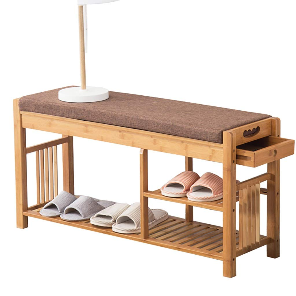 3層木製の靴のベンチ、靴箱、ソファスツール、廊下に最適な引き出し、リビングルーム、バスルーム (Size : 95.5cm*29cm*48cm) B07T8NZX54  95.5cm*29cm*48cm