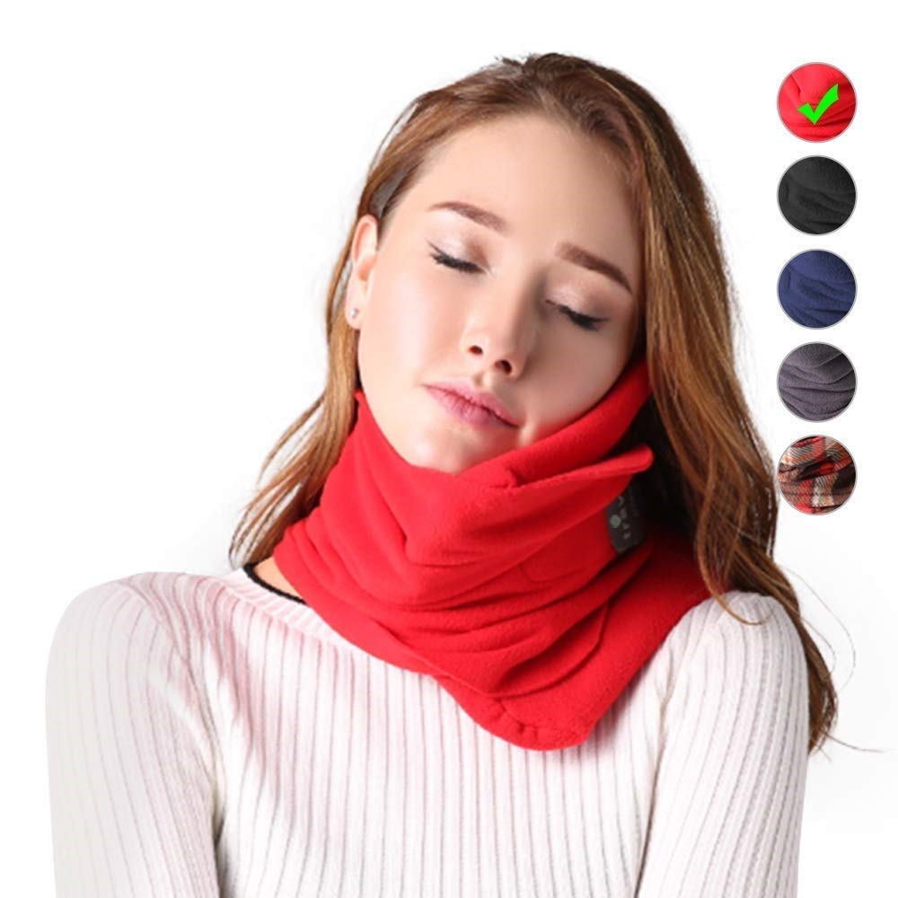 LMSJ New Travel Neck Pillow Support Adjustable Super Soft Easy To Carry for Airplane Car Sleeping Travel Unisex Kids Machine Washable (Color : Plaid)