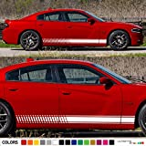 2x Lower Side Stripes Decal Sticker Vinyl kit Compatible with Previous and Current Dodge Challenger Models