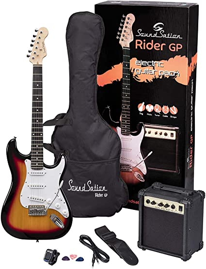 soundsation Rider Rider GP 3ts Electric Guitar Pack – 3T Sunburst ...