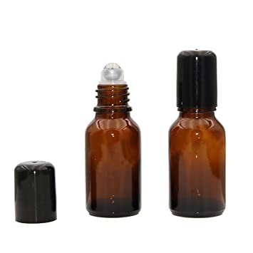 10 unidades de 15 ml Roll On botellas de cristal para aceite esencial de perfume,