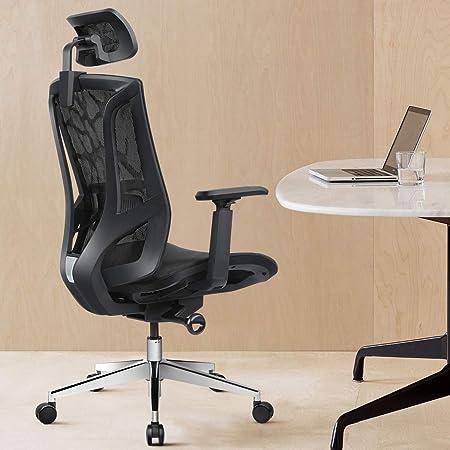 ANGEL QUEEN Sedia ergonomica in Tessuto a Rete con Schienale Alto braccioli Regolabili 3D Regolabile in Altezza e Supporto per la Testa Regolabile//Qualsiasi Angolo Posteriore Regolabile a 135 /°-Nero