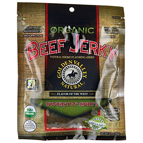 Golden Valley Natural Beef Jerky - Golden Valley Natural Organic Beef Jerky, Sweet N' Spicy, 3 Ounce Pouch