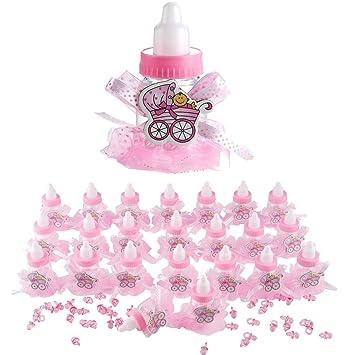 Qilicz® - Juego de 24 botellas de regalo para bautizo ...