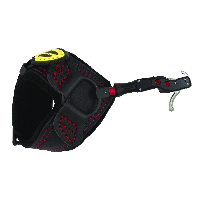 TruFire Hardcore Buckle Foldback Adjustable Archery Compound Bow Release - Black Wrist Strap with Foldback Design