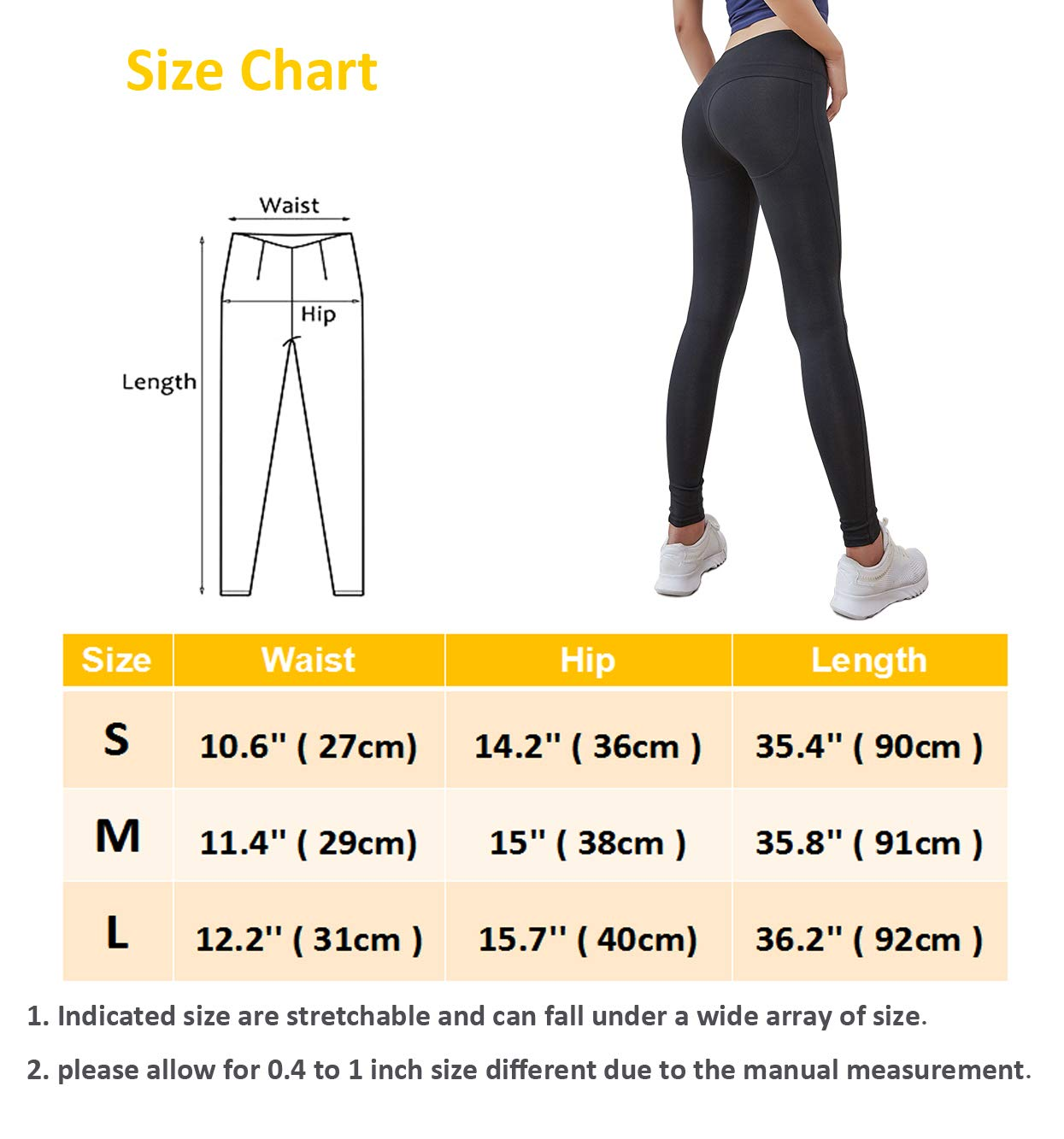 High Waist Yoga Pants Workout Capris Leggings,Tummy Control Butt Lifting Tights