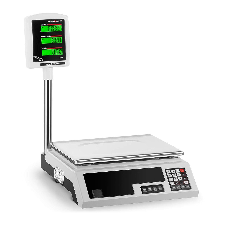 Steinberg Balance Poids-Prix É lectronique Professionnelle SBS-PW-301CE (Non Homologué e, 30 kg, Pré cision ± 1 g, 34x23 Cm, 2 LCD) Précision ±1 g Steinberg Systems