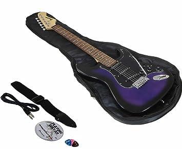 Benson St Midnight purpleburst guitarra eléctrica paquete: Amazon.es ...