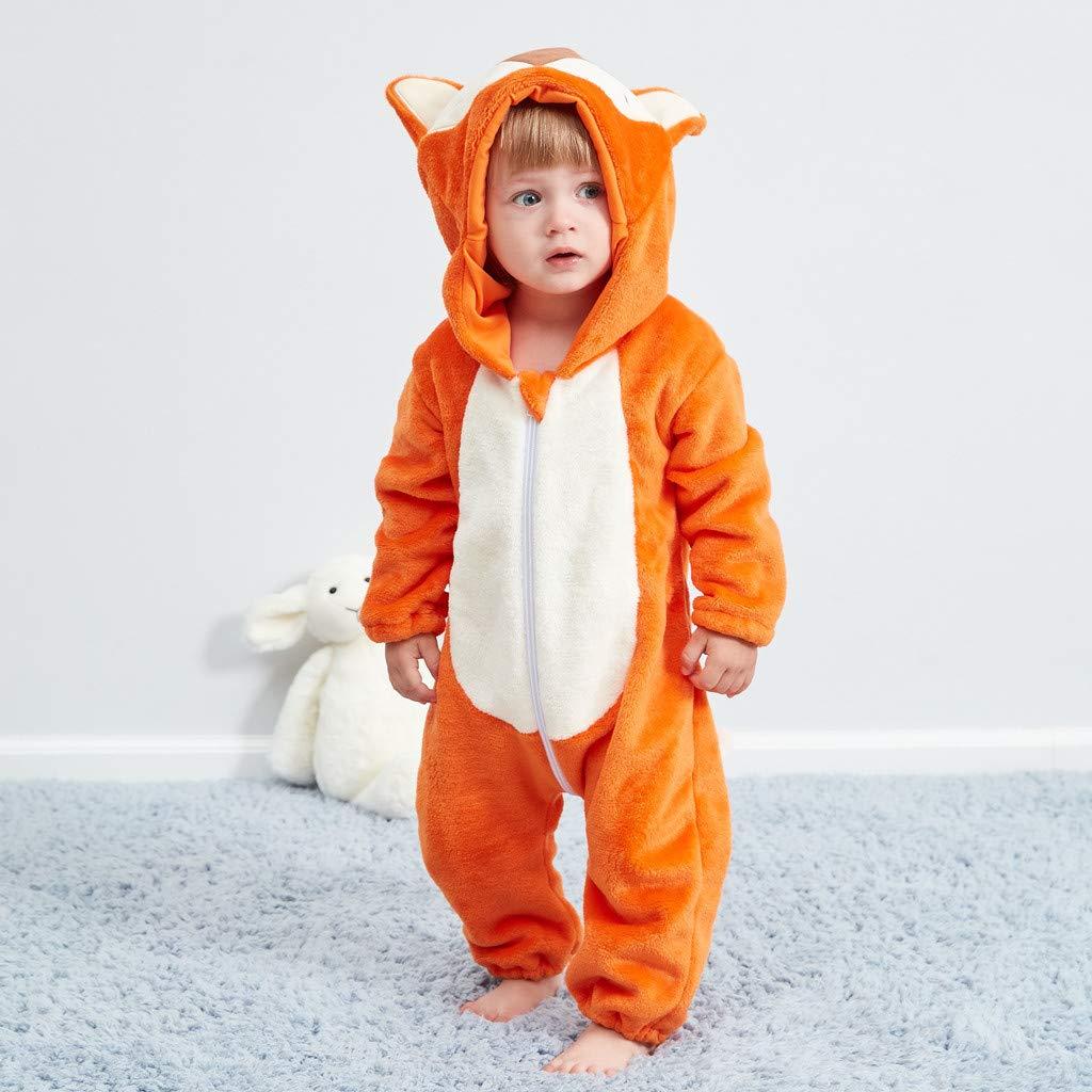 Kword Bambino Pagliaccetto con Cappuccio Prima Infanzia Bambino Bambina  Tuta 6ba0b73479a