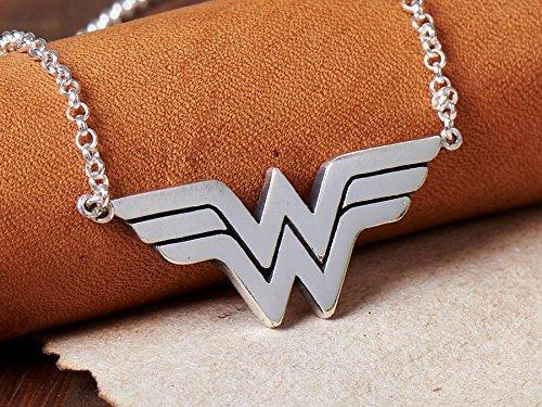 Amazon 925 sterling silver wonder woman pendant necklace 925 sterling silver wonder woman pendant necklace jewelry aloadofball Gallery