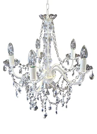 Livitat® Kronleuchter Ø 52 Cm Lüster Kristall Leuchter Weiß LV3020