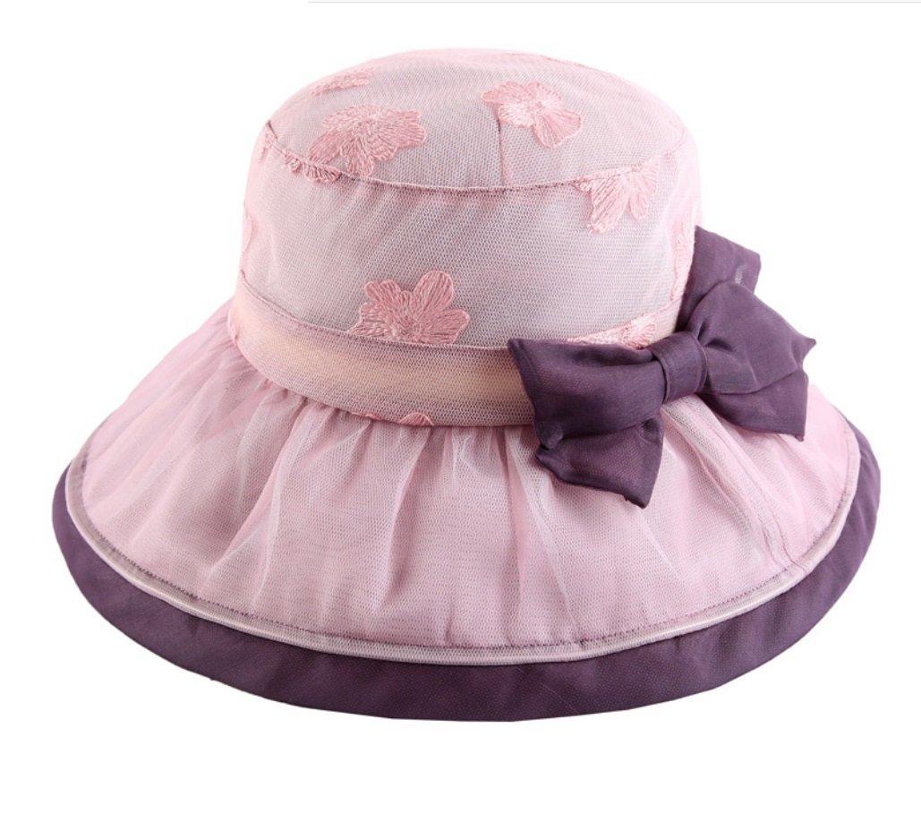 Beige Sun Hat Female Summer Folding Sun Hat Silk UV Beach Hat Embroidered Silk Cap ZXCV