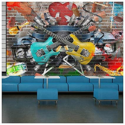 Amazon.com: Azutura Guitar U0026 Music Wall Mural Graffiti Photo Wallpaper Kids  Bedroom Home Decor Available In 8 Sizes X Small Digital: Kitchen U0026 Dining