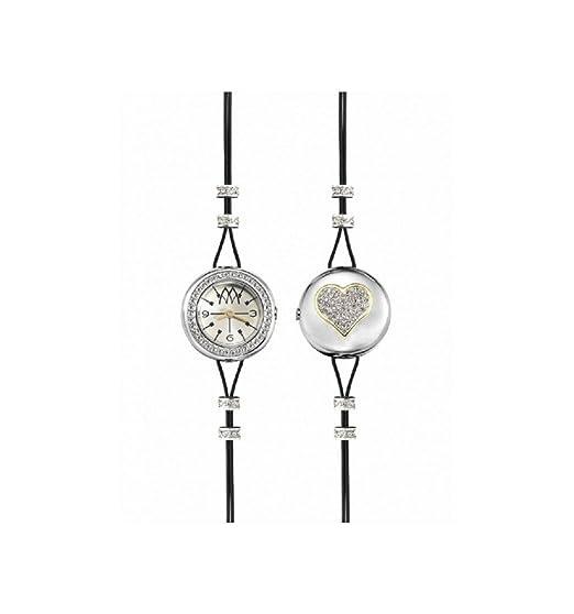 Reloj Marco Mavilla – Pepito – reversible, con corazón plateado y purpurina PHT02SL: Amazon.es: Relojes