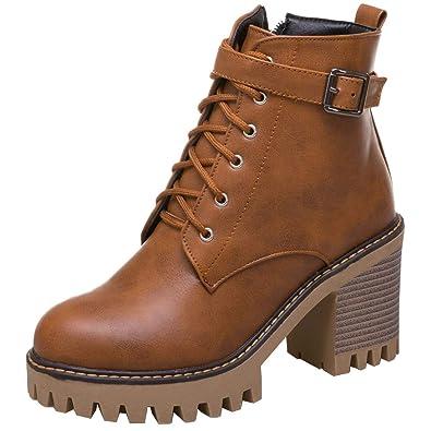 Ankle Ye Heels Boots Blockabsatz High Damen Plateau doeWBrCx